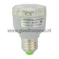 3W E27 LED lamp met (IR) infraroodsensor