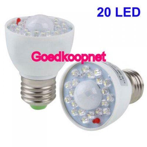 E27 LED lamp met bewegingsmelder