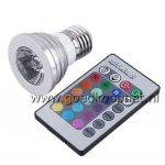 LED E27 3W 240-Lumen 16 kleuren met afstandbediening