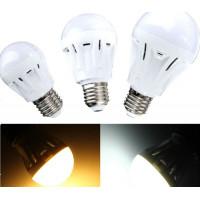E27 3W LED lamp met geluid en licht sensor Warm Wit