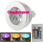 MR16 LED spot lamp 3W, 16 kleuren met afstandbediening