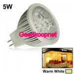 MR16 LED Spotlamp  5 Watt  Warm Wit.