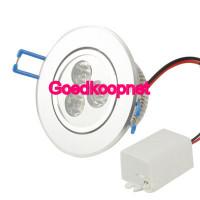 3 Watt LED inbouwspot, Helder Wit