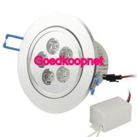 5 Watt LED inbouwspot, Helder Wit