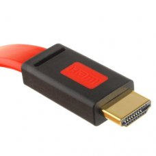 Rode, Platte Full HD 1080P High HDMI AM to AM Kabel