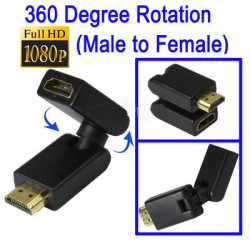 HDMI 19 Pin Male to Female Draaibaar