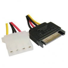 15 Pin SATA Female naar 5 Pin Female, Length: 15cm