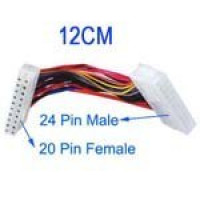 20 Pin Female to 24 Pin Male Adapter Power Extension Kabel: Lengte 12,5 cm