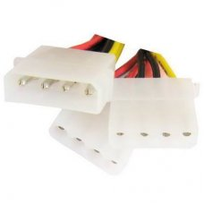 4-Pin Molex Y Power Supply Kabel splitter, Lengte 20cm