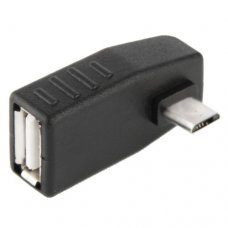 Micro USB Male to USB 2.0 AF Adapter 90 graden