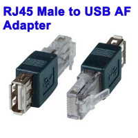 RJ45 Male to USB AF Adapter