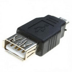 USB A Female to Micro USB 5 Pin Male Adapter