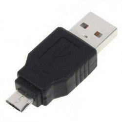 USB A Male to Micro USB 5 Pin Male Adapter