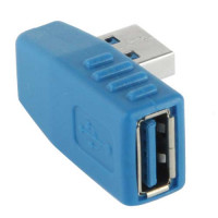 USB 3.0 90 graden A Male to A Female Adapter